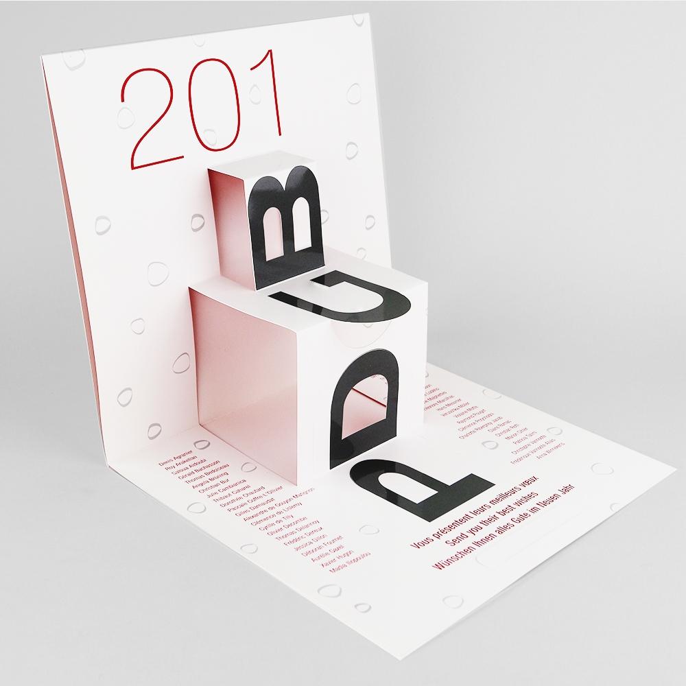 Carte de voeux pop up imprimerie de paris - Carte de voeux personnalisee photo ...