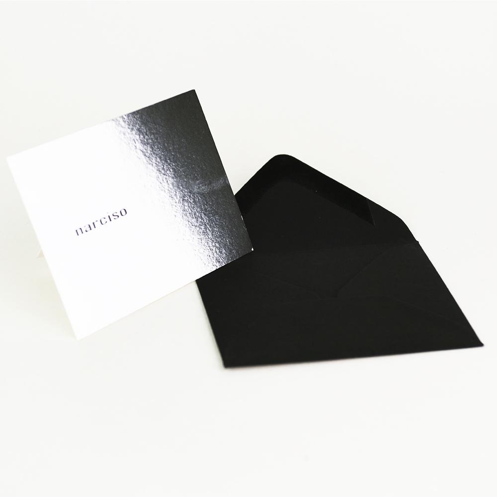 Carte De Visite Luxe Avec Enveloppe