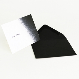 Carte de visite de luxe avec enveloppe