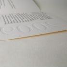 Carte de voeux imprimée & gaufrée