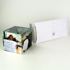 Cube sauteur avec enveloppe luxe