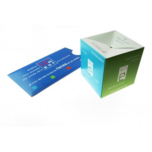 Cube sauteur - Carte de voeux