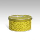 Boite ronde jaune