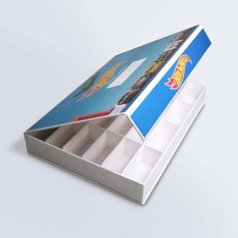 Boîte aimantée compartimentée