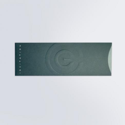 Fourreau invitation gaufré