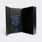 Boîte aimantée à dorure bleue