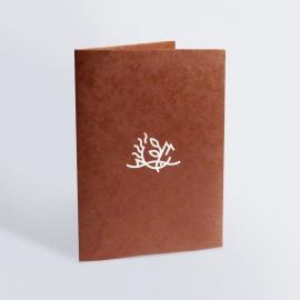 Porte-carte avec dorure