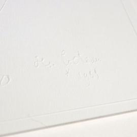 Carte postale gaufrée