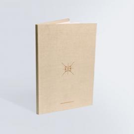 Brochure à reliure carton - couture à cheval