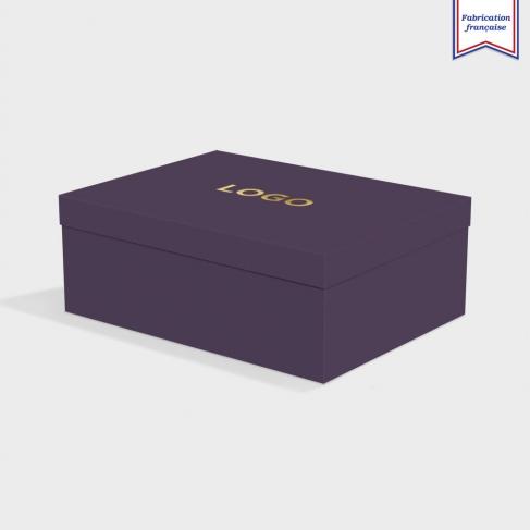 Boîte cloche Amethyst avec dorure
