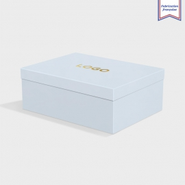 Boîte cloche Azure Blue avec dorure