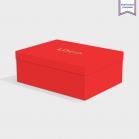 Boîte cloche Bright Red avec dorure