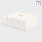 Boîte cloche Bright White avec dorure