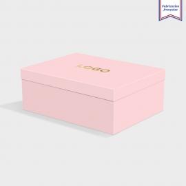 Boîte cloche Candy Pink avec dorure