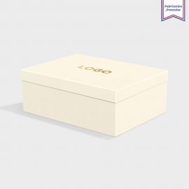 Boîte cloche China White avec dorure