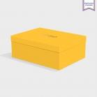 Boîte cloche Citrine avec dorure
