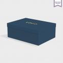 Boîte cloche Cobalt avec dorure