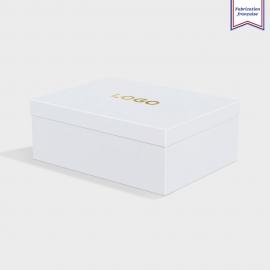 Boîte cloche Cool Blue avec dorure
