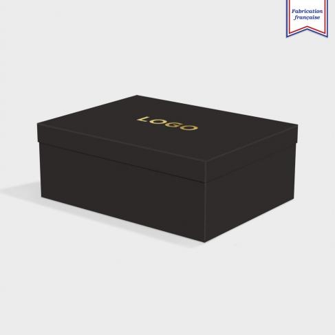 Boîte cloche Ebony Black avec dorure