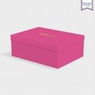 Boîte cloche Fuchsia Pink avec dorure