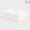 Boîte cloche Ice White avec dorure