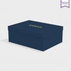 Boîte cloche Imperial Blue avec dorure