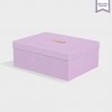 Boîte cloche Lavender avec dorure