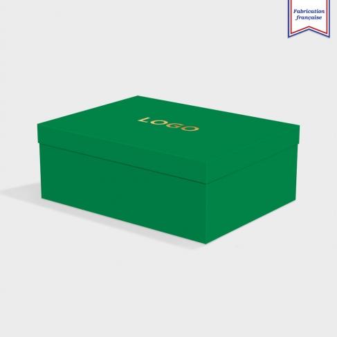 Boîte cloche Lockwood Green avec dorure