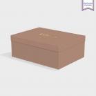 Boîte cloche Nubuck Brown avec dorure