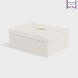 Boîte cloche Pale Grey avec dorure