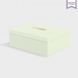 Boîte cloche Pistachio avec dorure