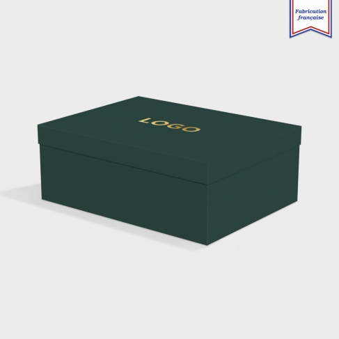 Boîte cloche Racing Green avec dorure