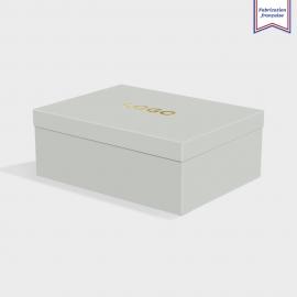 Boîte cloche Real Grey avec dorure