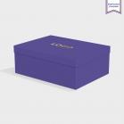 Boîte cloche Royal Blue avec dorure