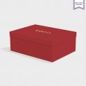 Boîte cloche Scarlet avec dorure