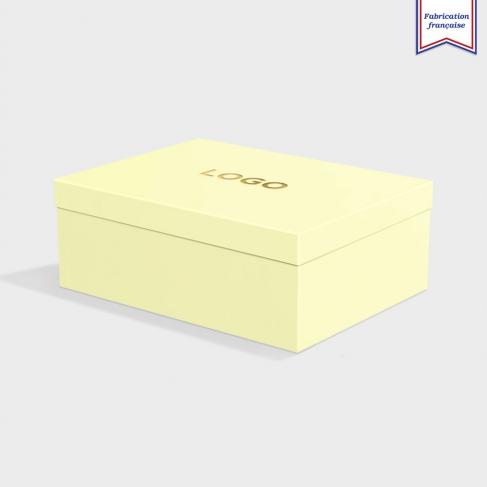 Boîte cloche Sorbet Yellow avec dorure