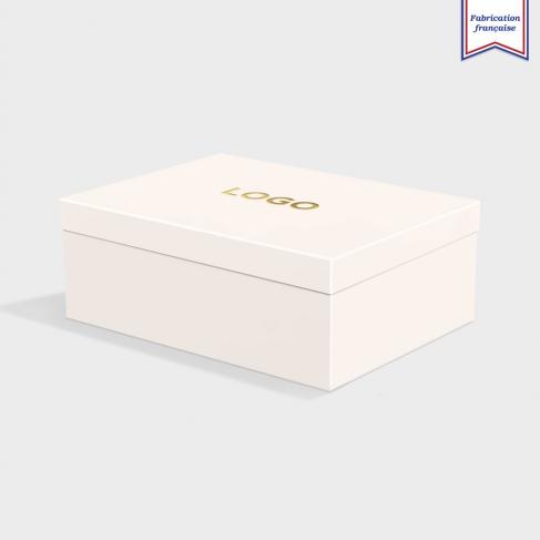 Boîte cloche Vellum White avec dorure