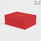 Boîte cloche Vermillon avec dorure