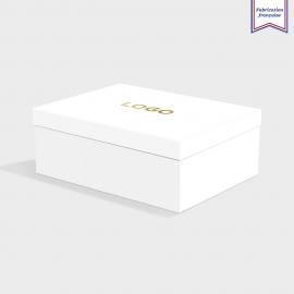 Boîte cloche White Frost avec dorure