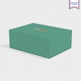 Boite cloche retombante emerald avec dorure