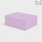 Boite cloche retombante lavender avec dorure