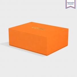 Boite cloche retombante mandarin avec dorure