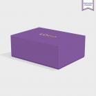 Boite cloche retombante purple avec dorure