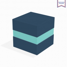 Boite à gorge neutre cobalt