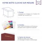 Boîte cloche Purple avec dorure