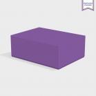 Boite cloche retombante purple