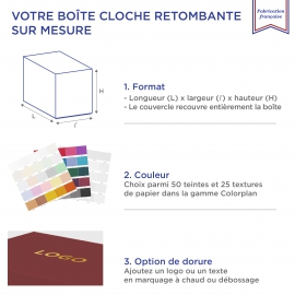 Boite cloche retombante royalblue