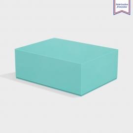 Boite cloche retombante turquoise