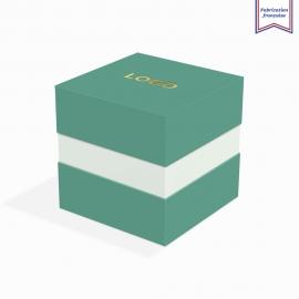Boite à gorge emerald avec dorure