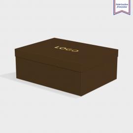 Boîte cloche Bitter Chocolate avec dorure